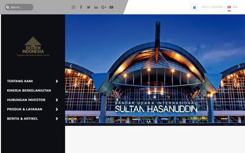 Screenshot of Home Page semenindonesia.com - Semen Indonesia – Together We Build a Better Future - captured Nov. 9, 2018