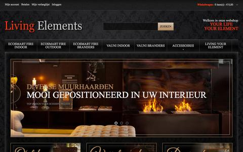 Screenshot of Home Page living-elements.nl - Home page Living Elements - captured Sept. 30, 2014