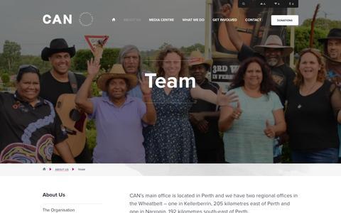 Screenshot of Team Page canwa.com.au - Team - CAN - captured Dec. 6, 2015