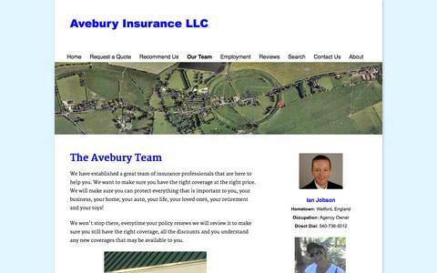 Screenshot of Team Page aveburyinsurance.com - Avebury Insurance Our Team - captured Oct. 4, 2014