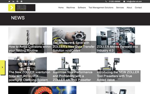 Screenshot of Press Page zoller-uk.com - News - Zoller UK - captured June 18, 2017