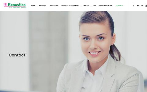 Screenshot of Contact Page remedica.eu - Remedica Ltd - Contact - captured May 29, 2019