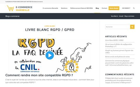 Screenshot of Blog ecommerce-marseille.com - Blog e-commerce - E-commerce Marseille - agence web marseille - captured Feb. 12, 2018