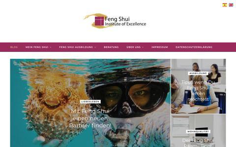 Screenshot of Home Page feng-shui.de - Feng Shui Ausbildung   Feng Shui Online-Kurse - Feng Shui Institute of Excellence - captured June 27, 2018