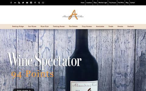 Screenshot of Home Page alexandrianicolecellars.com - Home - Alexandria Nicole Cellars - captured May 29, 2017