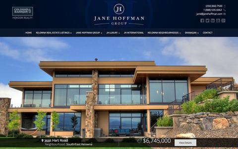 Screenshot of Home Page janehoffman.com - Discover Kelowna Real Estate - Jane Hoffman Group - captured Jan. 29, 2016
