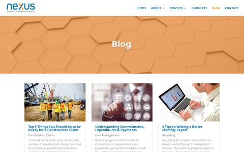 Screenshot of Blog nexuspmg.com - Blog | Nexus Program Management Group - captured Nov. 30, 2016