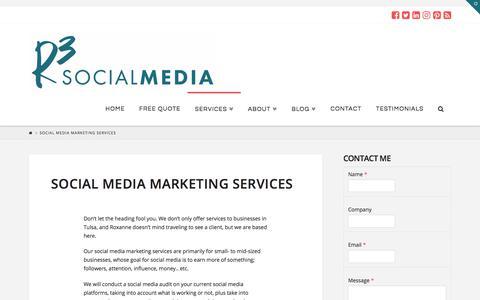 Screenshot of Services Page r3socialmedia.com - Social Media Marketing Services - Tulsa, OK    R3 Social Media - captured Nov. 14, 2017