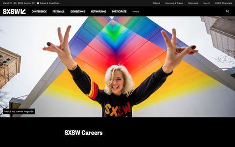 Screenshot of Jobs Page sxsw.com - Careers | SXSW Conference & Festivals - captured June 24, 2019