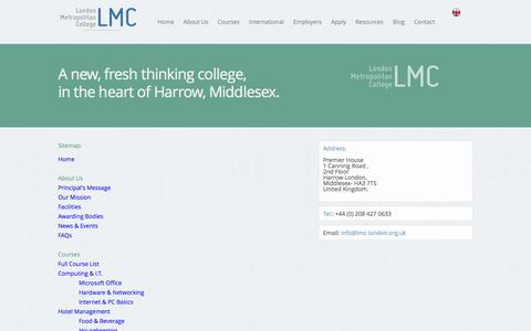 Screenshot of Site Map Page lmc-london.org.uk - LMC | Sitemap - captured Oct. 3, 2014