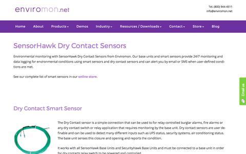 SensorHawk Dry Contact Sensors - Enviromon