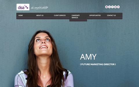 Screenshot of Home Page dsaexecutive.com - DSA Executive - captured Sept. 30, 2014