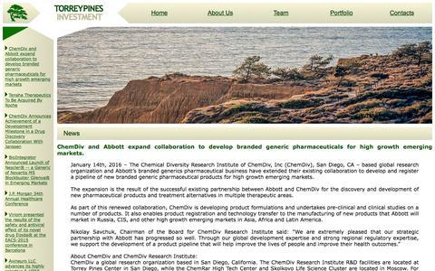 Screenshot of Press Page torreypinesinv.com - Torrey Pines Investment - captured Feb. 18, 2016