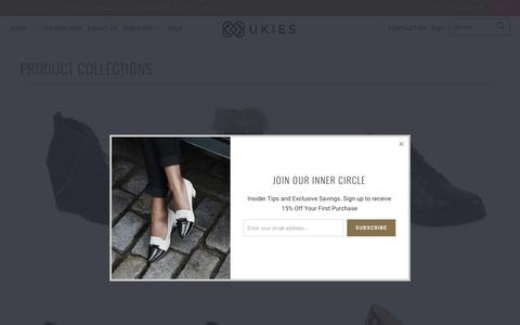 Screenshot of Products Page ukies.com - Collections - UKIES - captured Nov. 16, 2016