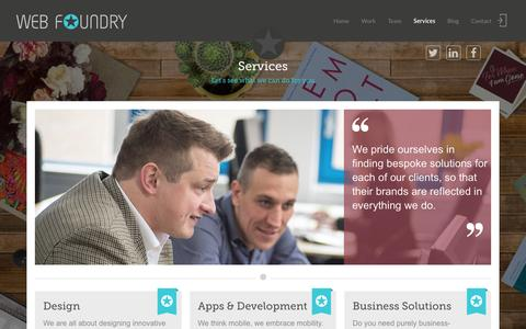 Screenshot of Services Page web-foundry.co.uk - Web design services Edinburgh | Web Foundry - captured Jan. 12, 2016