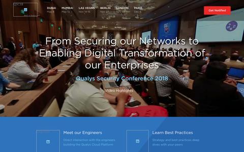 Qualys Security Conference 2018 Las Vegas | Qualys, Inc.