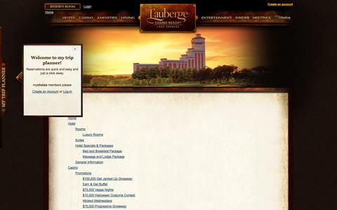 Screenshot of Site Map Page llakecharles.com - Site Map » L'Auberge - captured Sept. 25, 2014