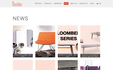 Screenshot of Press Page practika.com - News - Practika - Industrial Customized Office Furniture - captured Sept. 29, 2018