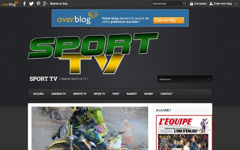Screenshot of Home Page sport-tv.org - SPORT TV - L'Agenda Sport ˆ la TV ! - captured Jan. 14, 2016