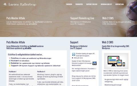Screenshot of Support Page larsenkallestrup.dk - SUPPORT - Larsen Kallestrup - captured Dec. 7, 2015