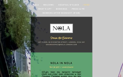 Screenshot of Press Page nola-london.com - News — NOLA - captured Oct. 7, 2014