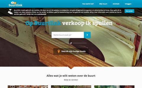 Screenshot of Home Page buurtlink.nl - Je buurt op internet | Buurtlink - captured Sept. 4, 2015