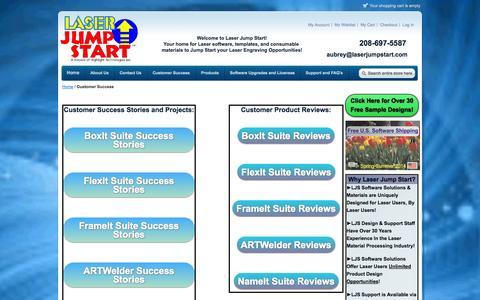 Screenshot of Testimonials Page laserjumpstart.com - Customer Success - captured Sept. 29, 2014