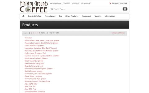 Screenshot of Site Map Page ministrygrounds.com.au - Magento Commerce - captured Oct. 9, 2014