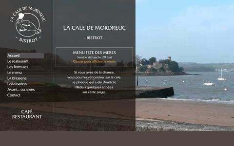 Screenshot of Home Page lacaledemordreuc.fr - La cale de Mordreuc - Restaurant bord de Rance - captured June 2, 2016