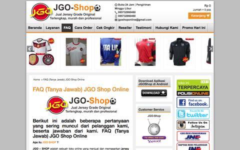 Screenshot of FAQ Page jerseygradeoriginal.com - FAQ (Tanya Jawab) JGO Shop Online - captured Nov. 2, 2014