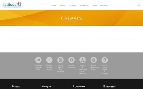 Screenshot of Jobs Page latitude12.com.au - Careers — Latitude 12 - captured Jan. 26, 2016
