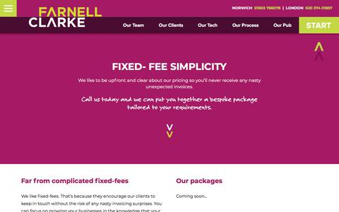 Screenshot of Pricing Page farnellclarke.co.uk - Pricing | Chartered Accountants Norwich & Lowestoft | Farnell Clarke Limited - captured March 2, 2018