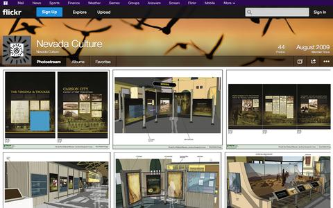 Screenshot of Flickr Page flickr.com - Flickr: Nevada Culture's Photostream - captured Oct. 22, 2014