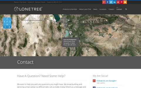 Screenshot of Contact Page lonetreeusa.com - Contact Us | Lone Tree USA - captured Sept. 30, 2014