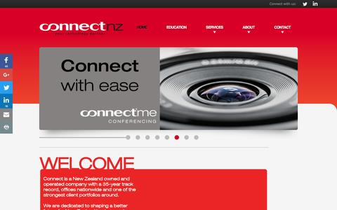 Screenshot of Home Page connectnz.co.nz - Your Technology Partner | Connect NZ - captured July 15, 2016