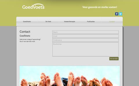 Screenshot of Contact Page goedvoets.com - contact - captured Jan. 9, 2017