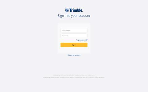Screenshot of Login Page trimble.com - Trimble Inc. Central Authentication Service - captured July 14, 2019