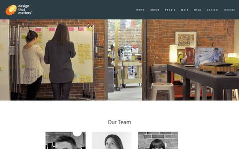 Screenshot of Team Page designthatmatters.org - People — Design that Matters - captured Nov. 17, 2018