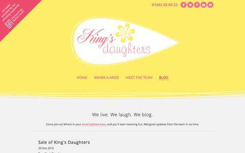 Screenshot of Blog weebly.com - Blog - King's Daughters Conference - captured June 9, 2017
