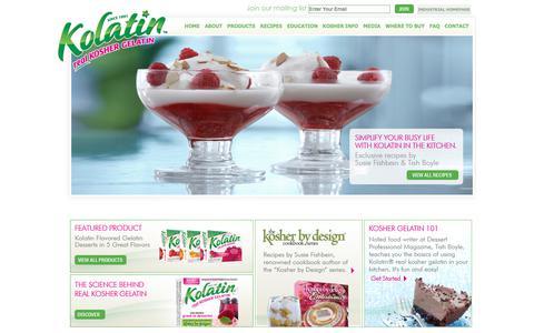 Screenshot of Home Page koshergelatin.com - Kolatin || Real Kosher Gelatin | Kolatin || Real Kosher Gelatin - captured Sept. 28, 2018