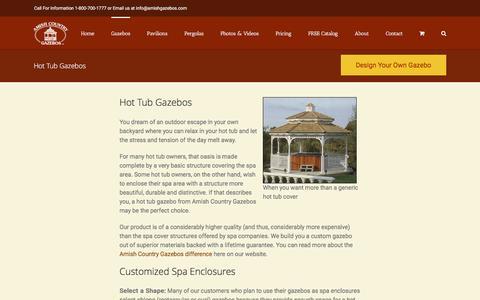 Hot Tub Gazebo | Spa Enclosures | Amish Country Gazebos