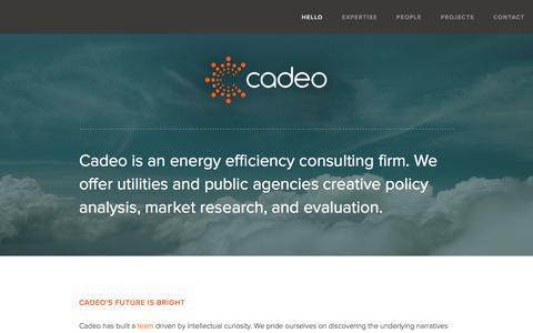 Screenshot of Home Page cadeogroup.com - Cadeo Group - captured Jan. 24, 2016