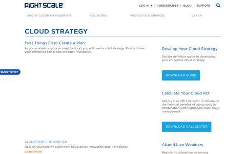 Learn About Cloud Strategy | RightScale