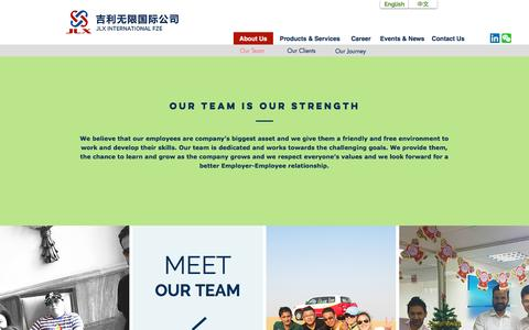 Screenshot of Team Page jlx-international.com - Our Team - captured May 25, 2017