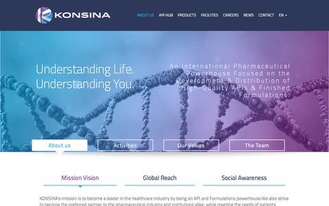Screenshot of About Page konsina.com - Aboutus | Konsina.com - captured Jan. 9, 2016