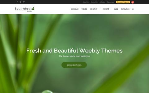 Screenshot of Home Page baamboostudio.com - Baamboo Studio - Premium Weebly Themes and Weebly Templates - captured Sept. 13, 2015