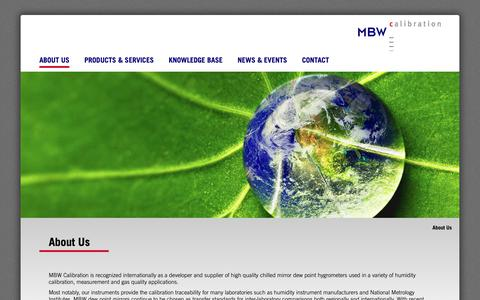 Screenshot of About Page mbw.ch - About Us - MBW Calibration AG - captured Oct. 1, 2018