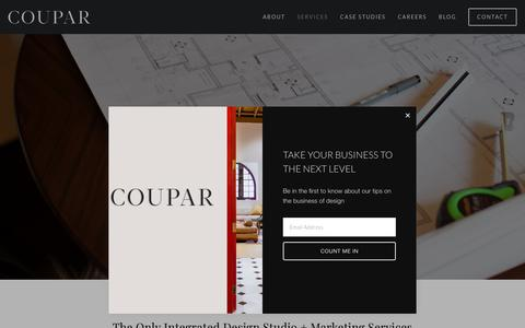 Screenshot of Services Page couparconsulting.com - Services — Coupar - captured Nov. 5, 2018