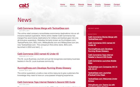 Screenshot of Press Page cat5.com - News – Cat5 Commerce - captured Sept. 19, 2014