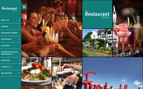 Screenshot of Home Page trgplc.com - The Restaurant Group - captured Feb. 15, 2016